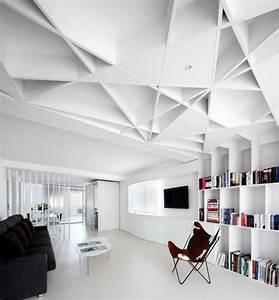 Plafonds modernes pour chaque interieur en 45 idees for Salle de bain design avec plaque décorative plafond