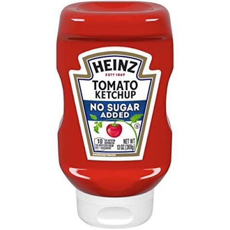 Heinz Ketchup No Added Sugar 13 oz Bottles, Pack of 6