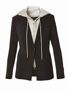 Veronica Beard Scuba Blazer With Hoodie Dickey In Black