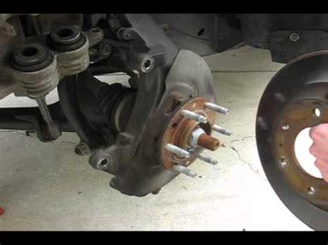 chevrolet trailblazer front  brake job youtube