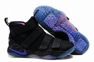 New Release Nike LeBron Soldier 11 Black Purple Pink 2017 ...