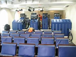 """White House press briefing room """"Skype seats"""" filled ..."""