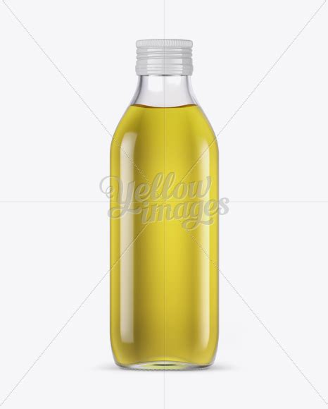 By deltatemplates in food and drink. 0.5L Clear Glass Olive Oil Bottle Mockup - Front view in ...
