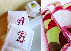 appliqued bath towels with jumbo letters sew4home bath With bath towels with letters