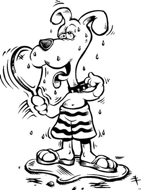 schwitzender hund ausmalbild malvorlage comics