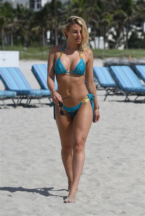 danielle armstrong   electric blue bikini   beach