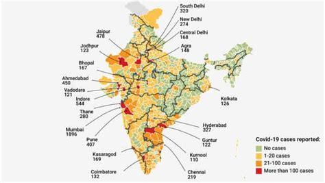 Mapped: The spread of coronavirus across India's districts