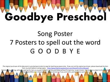 end of school goodbye preschool song and letter posters tpt 403 | original 707043 1