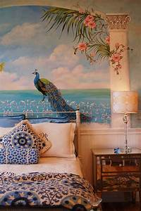 magnificent peacock wall mural Magnificent Peacock Wall Mural - Home Design #981