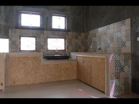 dapur instagramable perpaduan waferboard bekas