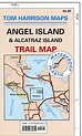 Angel Island and Alcatraz Island Trail Map by Tom Harrison