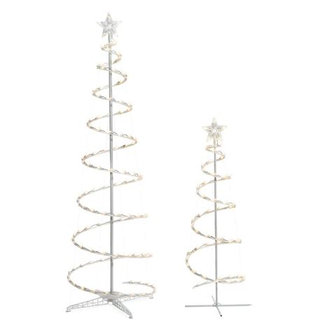 Spiral Tree Lighted by 2 Led Lighted Spiral Trees Led 6 And 4 Tree