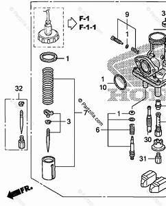Honda Motorcycle 2008 Oem Parts Diagram For Carburetor