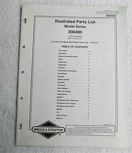 Briggs  U0026 Stratton Engines Illustrated Parts List Model