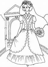 Bride Coloring Pages Print sketch template