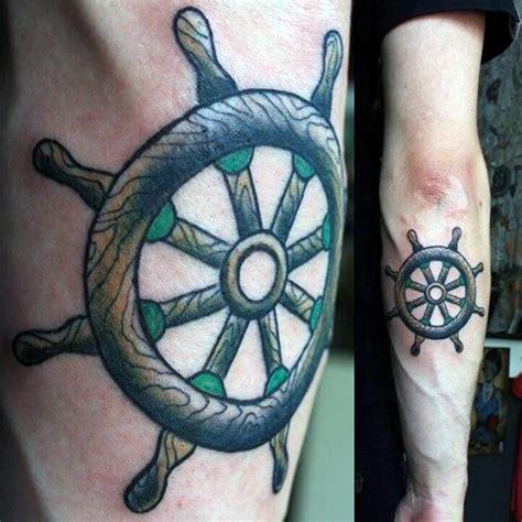ship wheel tattoo designs  men  meaningful voyage