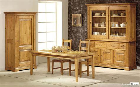 salle 224 manger bois massif style rustique