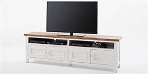 Lowboard Shabby Chic : tv lowboard wei holz byron landhausstil shabby chic vintage m bel stilsicher leben ~ Sanjose-hotels-ca.com Haus und Dekorationen