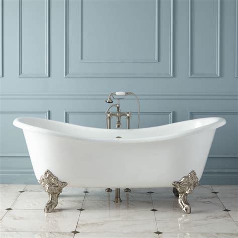 bath tub 68 quot erikson cast iron ended tub on wood cradles