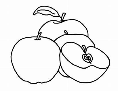 Apple Coloring Pages Apples Printable Drawing Cartoon