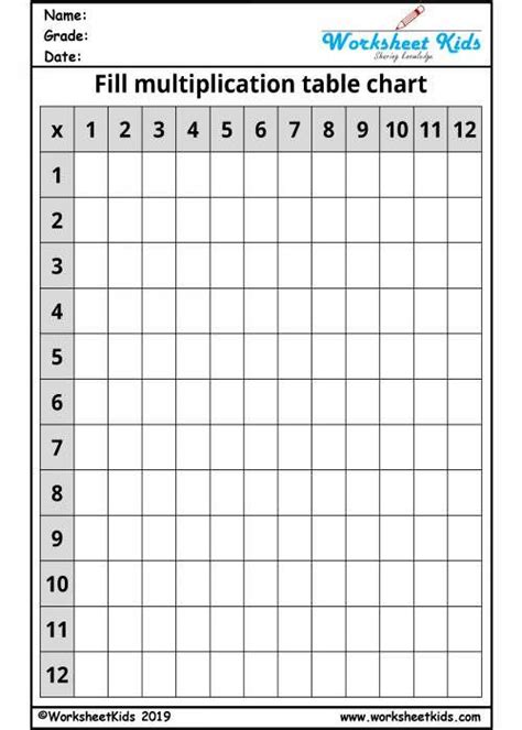blank times table grid      times table grid