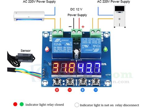 Xh-m452 Dc 12v Led Dual Digital Temperature Humidity Controller Independent Output 10a Relay Diy Hardcover Book Home Store Bathroom Vanities Wood Pallet Projects Fishing Bobber Dish Detergent Without Borax Window Seats Hammock Straps