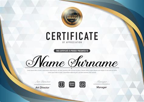 certificate template luxury  diploma style vector