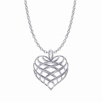 Heart Necklace Lattice Jewelry Designs Necklaces Diamond
