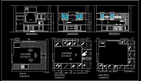 U Shape Modular Kitchen Design Detail   Autocad DWG File