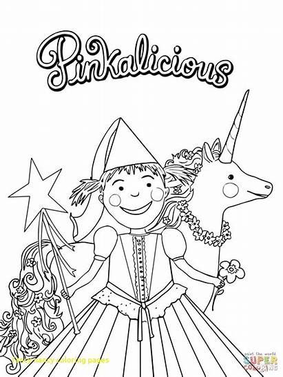 Coloring Pinkalicious Fancy Nancy Pages Printable Birthday