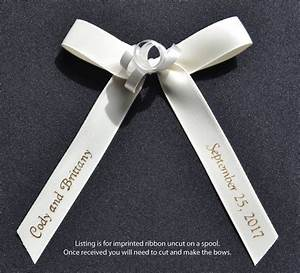 100 personalized 5 8 satin ribbons for wedding favors With personalized ribbon for wedding favors