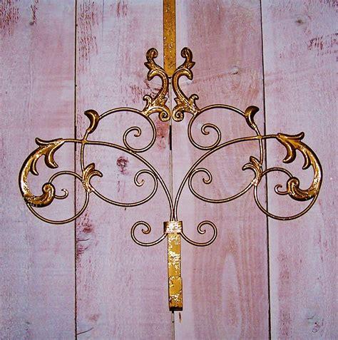 door wreath hanger custom antiqued gold scroll door wreath hanger front door