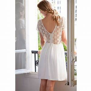 robe dos en guipure mademoiselle r robe courte With guipure robe