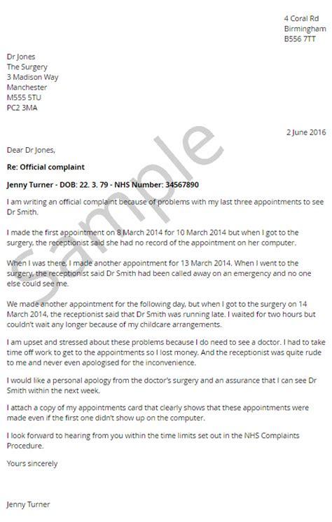 citizens advice bureau nhs complaints letter sle templates negligence claimline