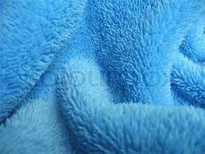 Blue towel terry cloth, Soft texture cloth   Stock Photo ...