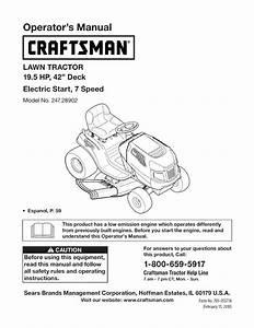 Craftsman Lawn Mower 247 28902 User Guide