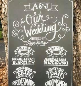 chalkboard wedding programs items similar to chalkboard sign wedding custom made