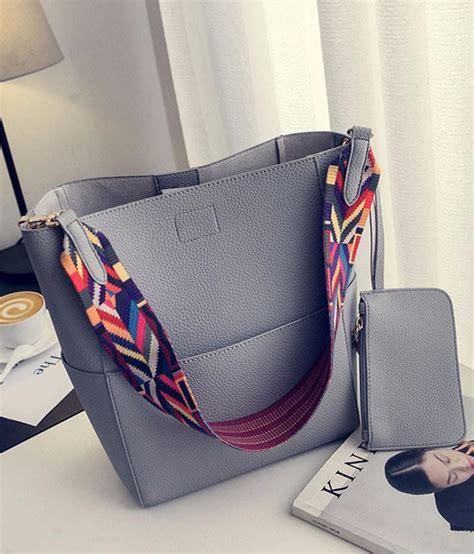 luxury brand designer bucket bag women leather wide strap shoulder bag handbag large capacity