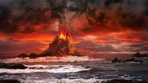 volcano hd wallpapers backgrounds wallpaper abyss