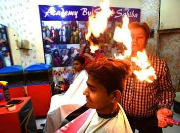 firehaircut gains popularity  delhi youth news