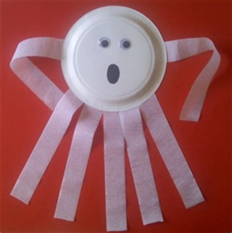 paper plate ghost fall crafts for preschoolers including crafts 2636