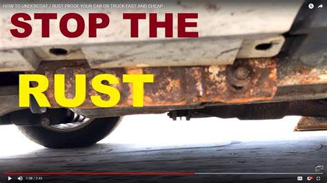 How To Undercoat / Rust Proof Your Car Or Truck Fast And