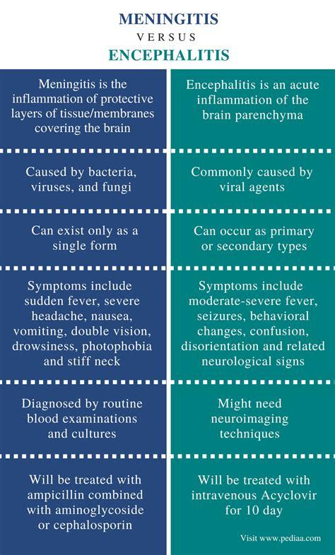 Difference Between Meningitis vs Encephalitis
