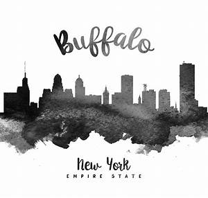 Buffalo New York Skyline 18 Painting by Aged Pixel