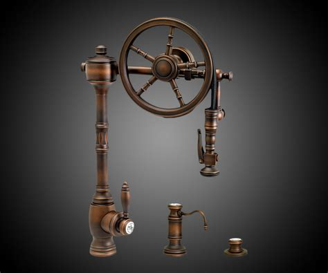 kitchen sink with faucet the wheel pull kitchen faucet dudeiwantthat com