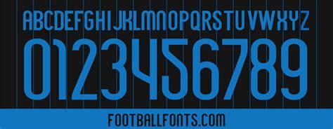 Inter Milan 2014/2015 Font TTF | Football Fonts