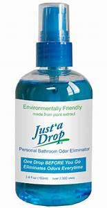 Comparamus just a drop bathroom odor eliminator family for Best odor eliminator for bathroom