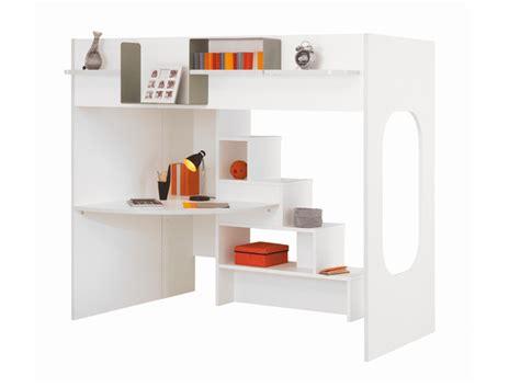 lit à étage avec bureau simple un lit mezzanine astucieux plein de rangements