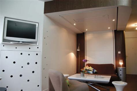 lit mezzanine canapé relooking design d un studio de 25m2 par delphine maumot
