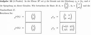 Abbildungsmatrix Berechnen : problem bei linearer abbildung spiegelung an der geraden x 2 2x 1 matrix bez glich e ~ Themetempest.com Abrechnung